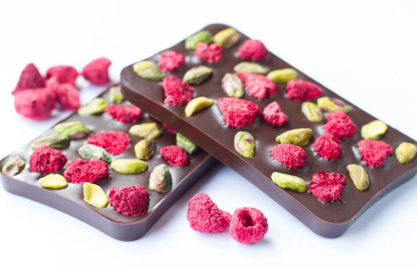 Raspberry and Praline chocolate