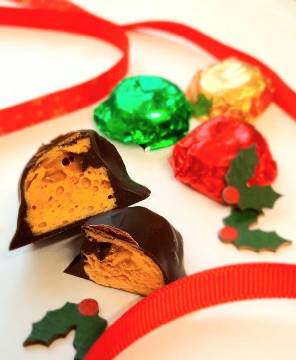 Honeycomb and fondant creams advent chocolates